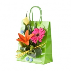 flowerbag green | Compositions multicolore