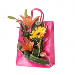 flowerbag pink | Compositions rose